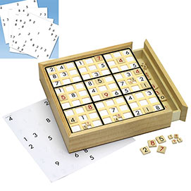 Set of 2: Sudoku Board with Refill Table Game