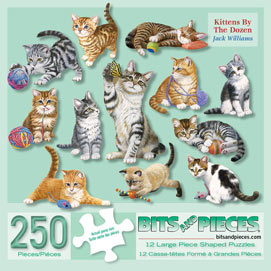 Kittens by the Dozen 250 Large Piece Shaped Mini Puzzles