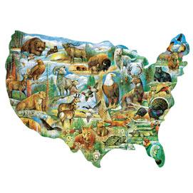 American Wildlife 750 Piece Shaped Jigsaw Puzzle
