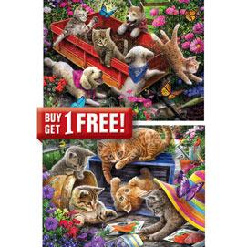 Set of 2: Larry Jones 500 Piece Jigsaw Puzzles