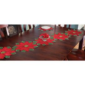 Set of 5: Poinsettia Runner - 70