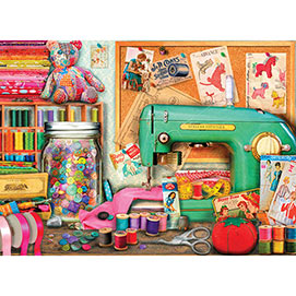 The Sewing Desk 500 Piece Giant Jigsaw Puzzle
