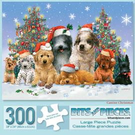 Canine Christmas 300 Large Piece Jigsaw Puzzle