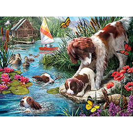 Swimming Lessons 300 Large Piece Jigsaw Puzzle
