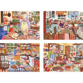 Set of 4: Tracy Hall 300 Large Piece Jigsaw Puzzles