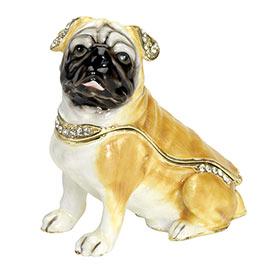 Best Friend Trinket Box - Fawn Pug