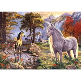 Hidden Image Horses 300 Large Piece Jigsaw Puzzle