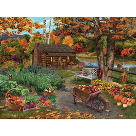 Harvest At The Cabin 300 Large Piece Jigsaw Puzzle