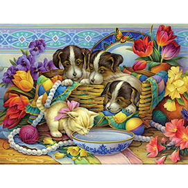 Precious Puppies And Kitten 500 Piece Jigsaw Puzzle