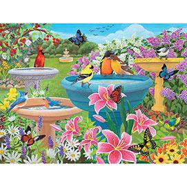 Birdbath Haven 300 Large Piece Jigsaw Puzzle