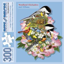 Woodland Chickadees 300 Large Piece Shaped Jigsaw Puzzle