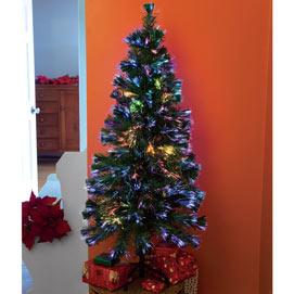 18 Inch Fiber Optic Christmas Tree