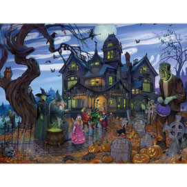 Goblins And Goodies And Ghouls- Oh My 300 Large Piece Jigsaw Puzzle