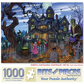 Goblins And Goodies And Ghouls- Oh My 1000 Piece Jigsaw Puzzle