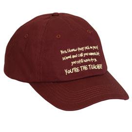 You're The Teacher Cap