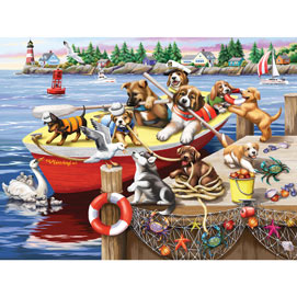 All Aboard For Mischief 300 Large Piece Jigsaw Puzzle