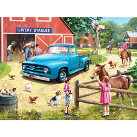 A Stop At The Stables 500 Piece Jigsaw Puzzle
