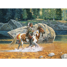 On The Yellowstone 300 Large Piece Jigsaw Puzzle