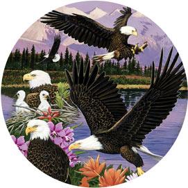 Eagle Sanctuary 500 Piece Round Jigsaw Puzzle