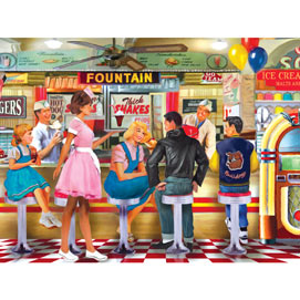 Soda & Ice Cream Parlour 300 Large Piece Jigsaw Puzzle
