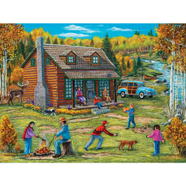 Autumn At The Cabin 300 Large Piece Jigsaw Puzzle