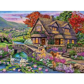 Swan Cottage 1000 Piece Jigsaw Puzzle