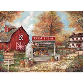 Farm Fresh Stand 300 Large Piece Jigsaw Puzzle