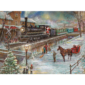 Christmas Train To Lambertville 300 Large Piece Jigsaw Puzzle