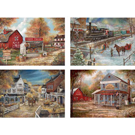 Set of 4: Ruane Manning 1000 Piece Jigsaw Puzzles