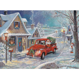 Santa's Snowy Delivery 500 Piece Jigsaw Puzzle