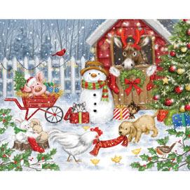 Christmas Farm Animals 300 Large Piece Jigsaw Puzzle