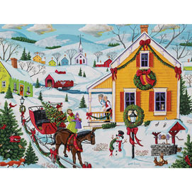 Bringing In The Tree 500 Piece Jigsaw Puzzle