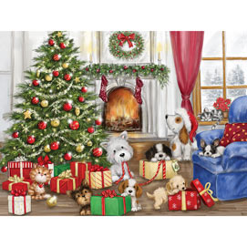 Christmas Dogs And Cats 500 Piece Jigsaw Puzzle