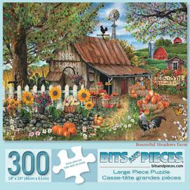 Bountiful Meadows Farm 300 Large Piece Jigsaw Puzzle
