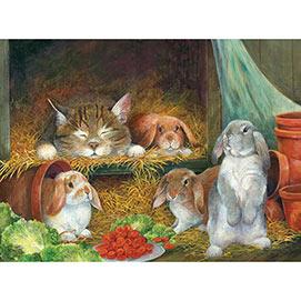 Bunnies 500 Piece Jigsaw Puzzle