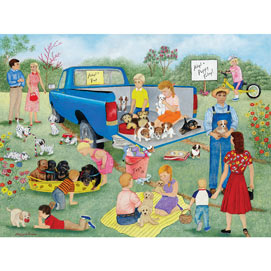 Adopt A Puppy Today 300 Large Piece Jigsaw Puzzle