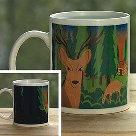 Deer Mysterious Color Changing Mug