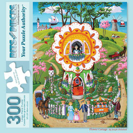 Flower Cottage 300 Large Piece Jigsaw Puzzle
