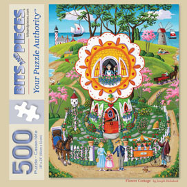 Flower Cottage 500 Piece Jigsaw Puzzle