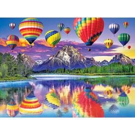 Balloon & Mountain Reflection 1500 Piece Jigsaw Puzzle