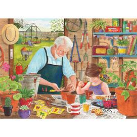 Grandad's Garden Sowing Seeds 1000 Piece Jigsaw Puzzle
