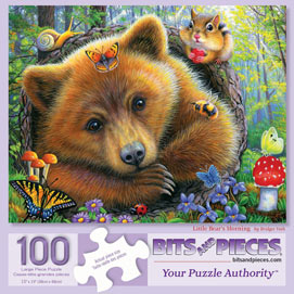 Little Bears Morning 100 Large Piece Jigsaw Puzzle