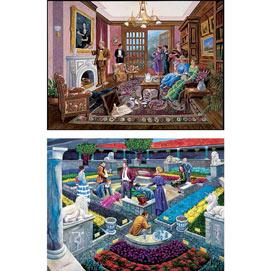 Set of 2: Murder Mystery 500 Piece Jigsaw Puzzles