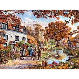 Village In Autumn 300 Large Piece Jigsaw Puzzle