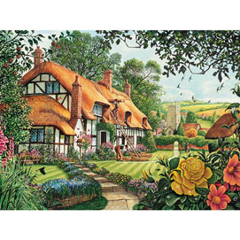The Summer Thatchers 300 Large Piece Jigsaw Puzzle