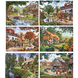 Set of 6: Steve Crisp 300 Large Piece Jigsaw Puzzles