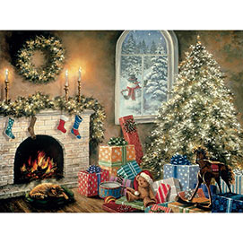 Not a Creature was Stirring 300 Large Piece Glow-in-the-Dark Jigsaw Puzzle