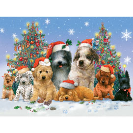 Canine Christmas 500 Piece Jigsaw Puzzle