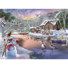 Winter Cabin 1000 Piece Jigsaw Puzzle
