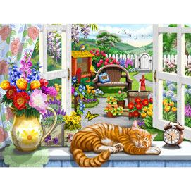 Window On The Garden 500 Piece Jigsaw Puzzle